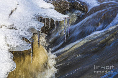 Icicles Photograph - A Winter Creek by Veikko Suikkanen