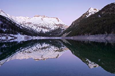 Photograph - A Winter Dawn At Lac D'oredon by Stephen Taylor