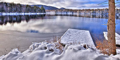Print featuring the photograph A Winter Day On West Lake by David Patterson