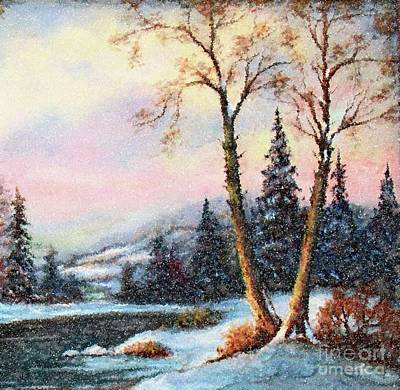 Painting - A Winter Fairy Tale by Hazel Holland
