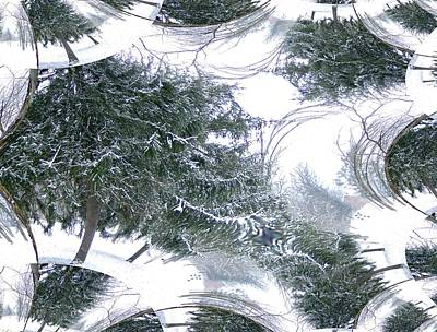 A Winter Fractal Land Art Print