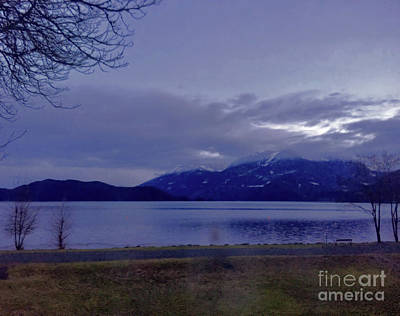 Photograph - A Winter Is Dawning At Harrison Lake by Victor K