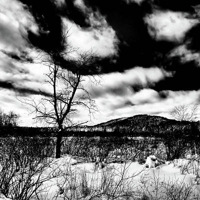 Old Photograph - A Winter Landscape by David Patterson