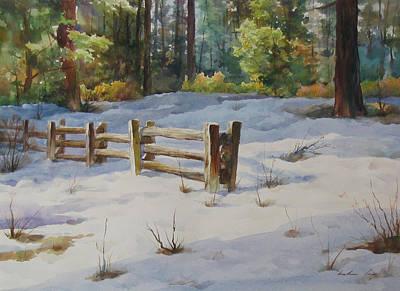 A Winter Morning Art Print by Kelvin  Lei