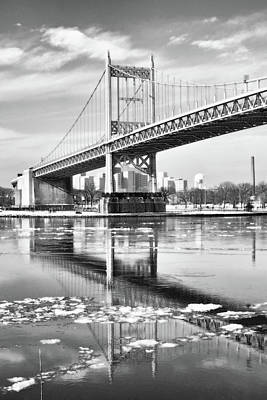 Photograph - A Winter Portrait Of The Triboro Bridge by Cate Franklyn
