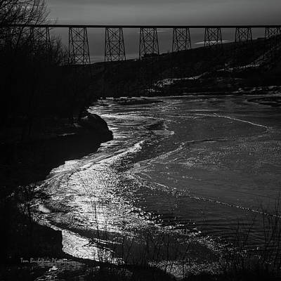 Photograph - A Winter River by Tom Buchanan