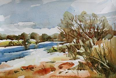 Painting - A Winter Scene by Owen Hunt