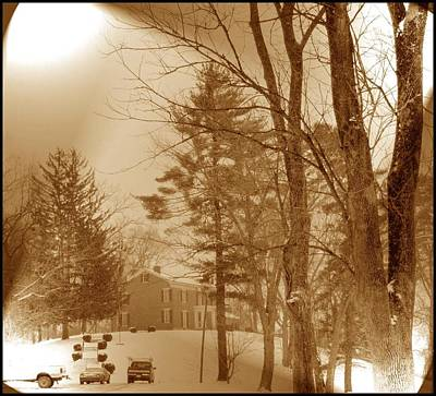 Art Print featuring the photograph A Winter Scene by Skyler Tipton