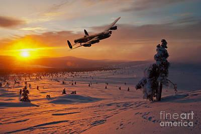 Snow Scene Landscape Digital Art - A Winter Sortie by J Biggadike