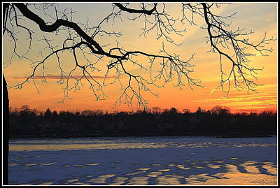 Photograph - A Winter Sunset - Douglaston On The Bay by Dora Sofia Caputo Photographic Design and Fine Art