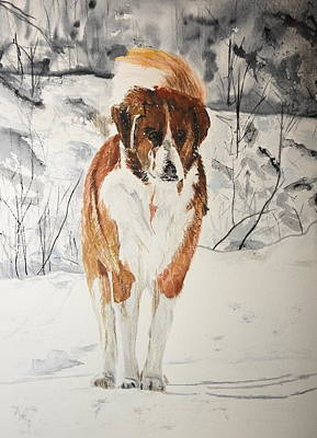 Painting - A Winter Walk by Betty-Anne McDonald