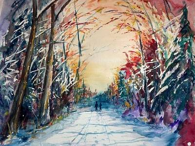Donny Painting - A Winter Walk by Don Seib