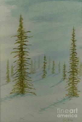Painting - A Winter Walk by Stacy C Bottoms