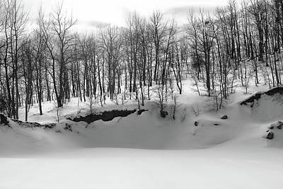 Winterscape Black And White Photograph - A Winter's Day by Jim Garrison