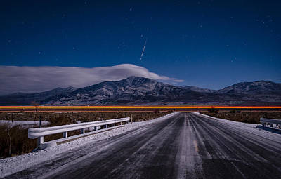 Photograph - A Winters Meteor by Cat Connor