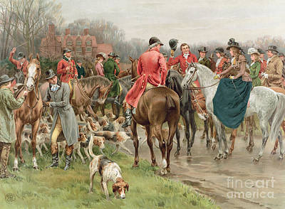 Fox Hunting Painting - A Winter's Morning by Frank Dadd