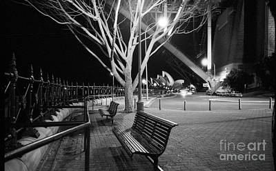 Photograph - A Winters Night By The Harbour Bridge by David Iori