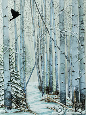 Assemblage Painting - A Winter's Tale by Stanza Widen