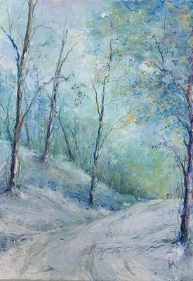 Painting - A Winter's Walk by Robin Miller-Bookhout