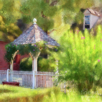 Digital Art - A Wishing Well At Williamsburg by Lois Bryan