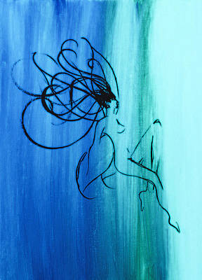 Children Painting - A Wisp Of A Silhouette by Brandy Nicole Neal