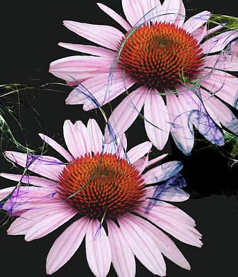 Digital Art - A Wisp Of Color by M Montoya Alicea