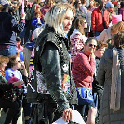 Photograph - A Woman At The Womens March by Cora Wandel