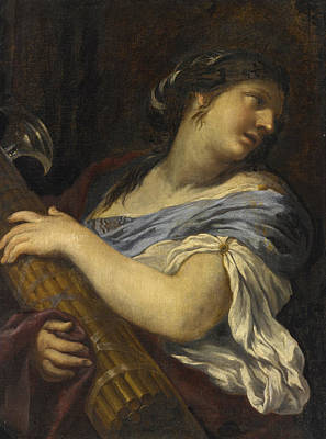 Painting - A Woman Half Length Holding A Fasces by Ciro Ferri