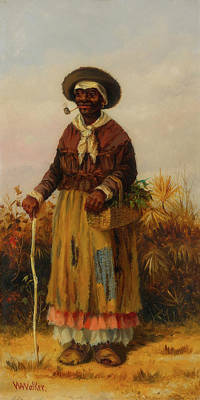 African-american Painting - A Woman Walking by William Walker