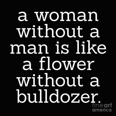 A Woman Without A Man Art Print