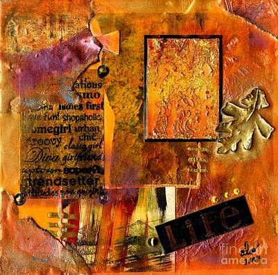 Mixed Media - A Woman's Life by Angela L Walker