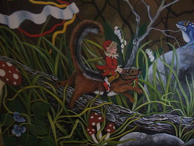 Painting - A Woodland Jaunt by Joan Barnard