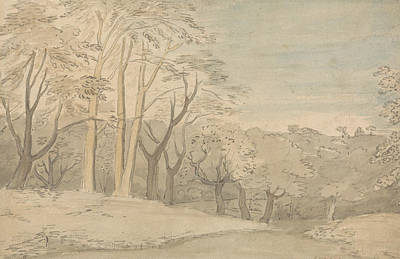 William Blake Painting - A Woody Landscape by William Blake