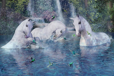 Prancing Digital Art - A World Beyond by Betsy Knapp