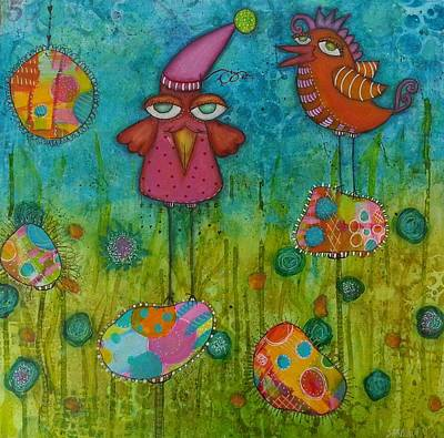 Mixed Media - A World Of Gougouttes 1 by Barbara Orenya