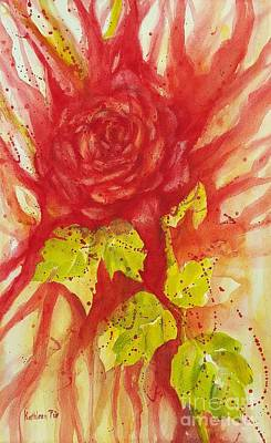 Painting - A Wounded Rose by Kathleen Pio