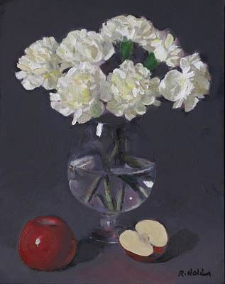 Painting - A Wreath Of Carnations by Robert Holden