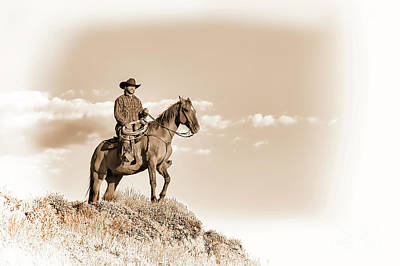 Photograph - A Wyoming Cowboy In White Chocolate by Kay Brewer
