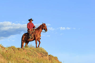 Photograph - A Wyoming Cowboy  by Kay Brewer