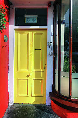 Photograph - A Yellow Door Cobh Ireland by Tom Prendergast