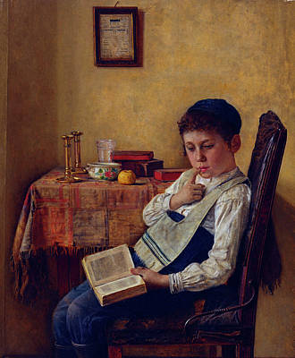 Isidor Kaufmann Painting - A Yeshiva Boy by MotionAge Designs