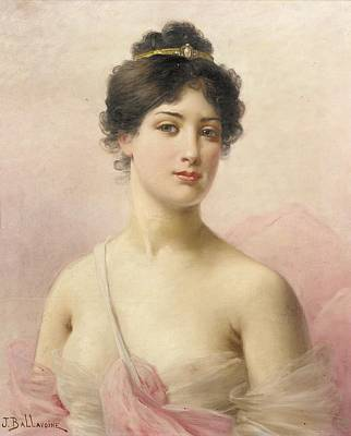 A Young Beauty Art Print by Jules Frederic Ballavoine