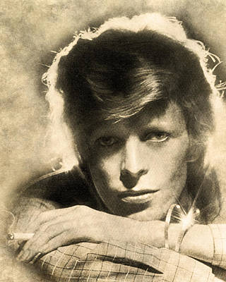 Digital Art - A Young David Bowie by Anthony Murphy
