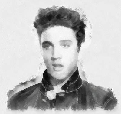 Rock And Roll Paintings - A Young Elvis Presley by Esoterica Art Agency