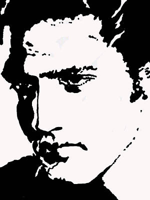 Drawing - A Young Elvis by Robert Margetts