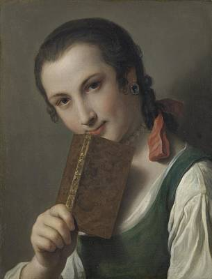 Painting - A Young Man With A Book by Celestial Images