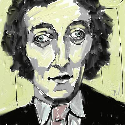 Digital Art - A Young Marty Feldman by Jim Vance