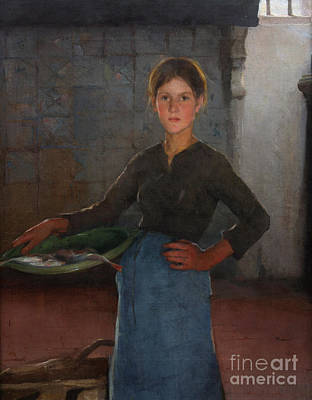 Adela Painting - A Zandvoort Fishergirl by Elizabeth Adela Stanhope Forbes