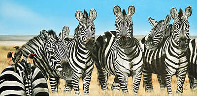 Painting - A Zeal Of Zebras by Katie McConnachie