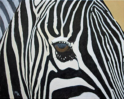 Painting - A Zebra's Eye by Mike Robles